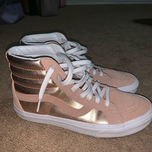 Brand new rose gold limited edition Vans